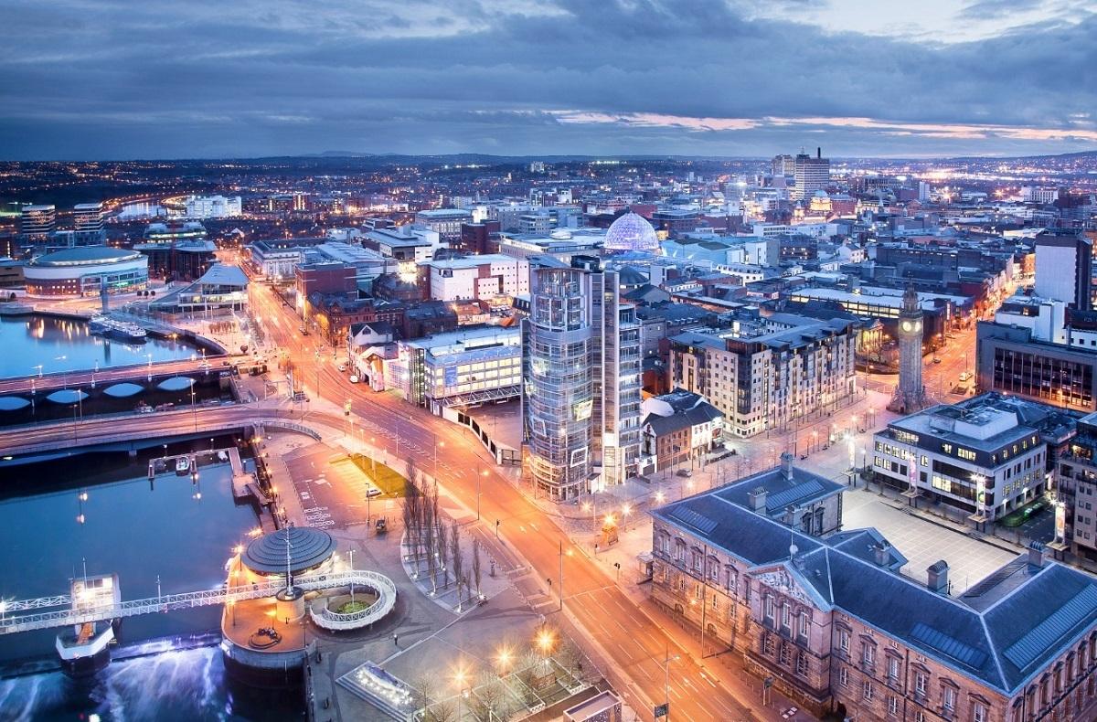 Belfast is a bustling metropolis