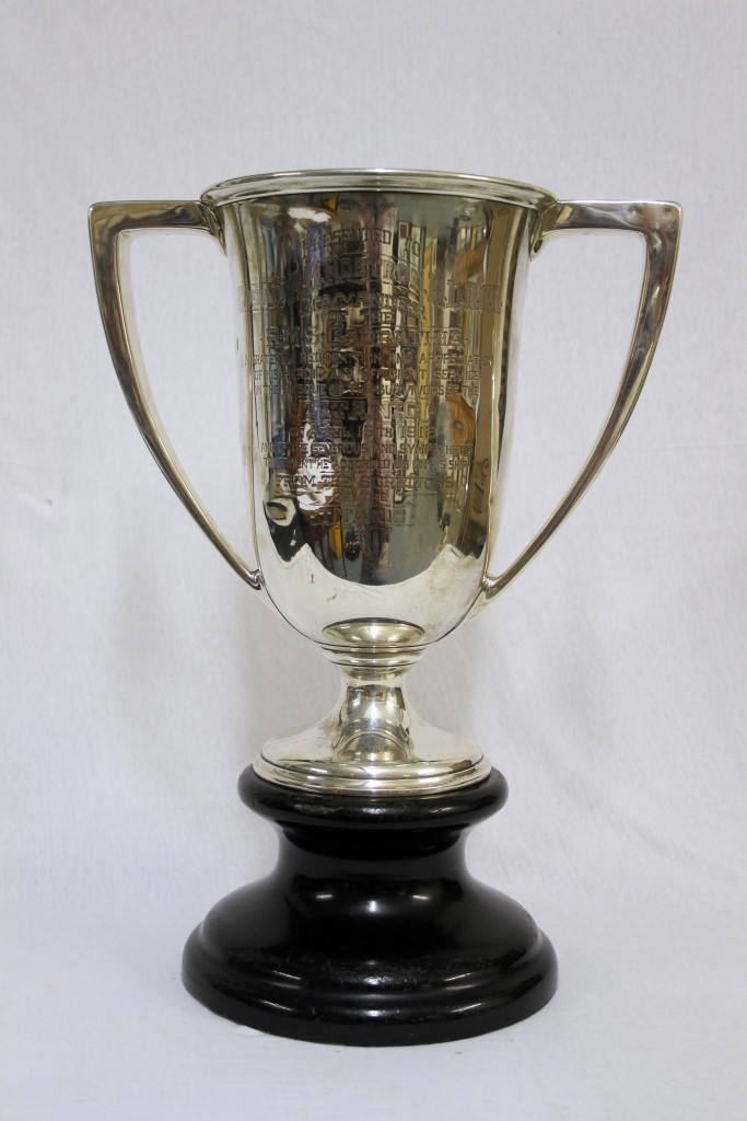The cup presented to the Carpathia's captain (Henry Aldridge & Son/PA Wire)