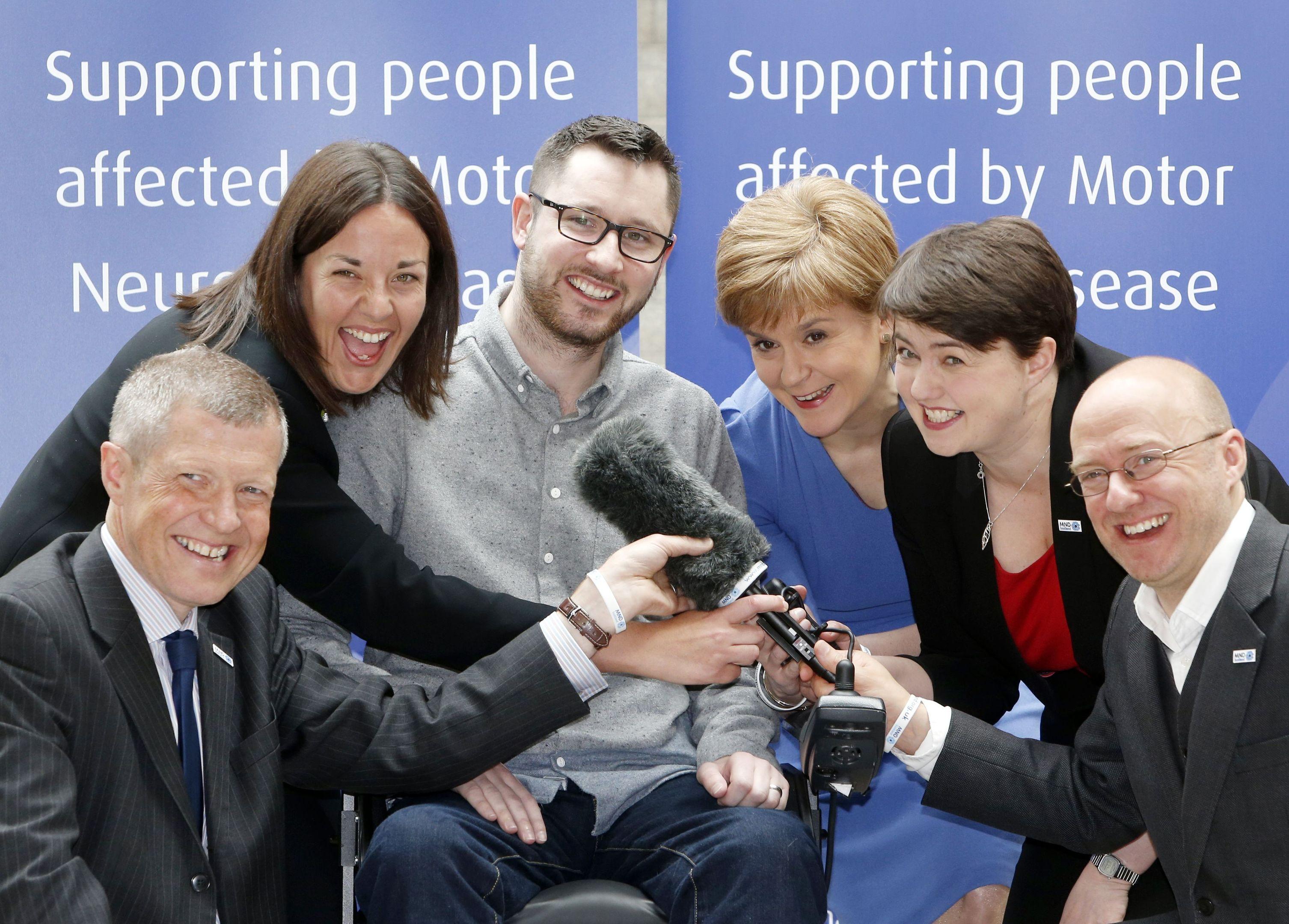 Gordon Aikman (centre) meets Scottish party leaders (Danny Lawson/PA Wire)