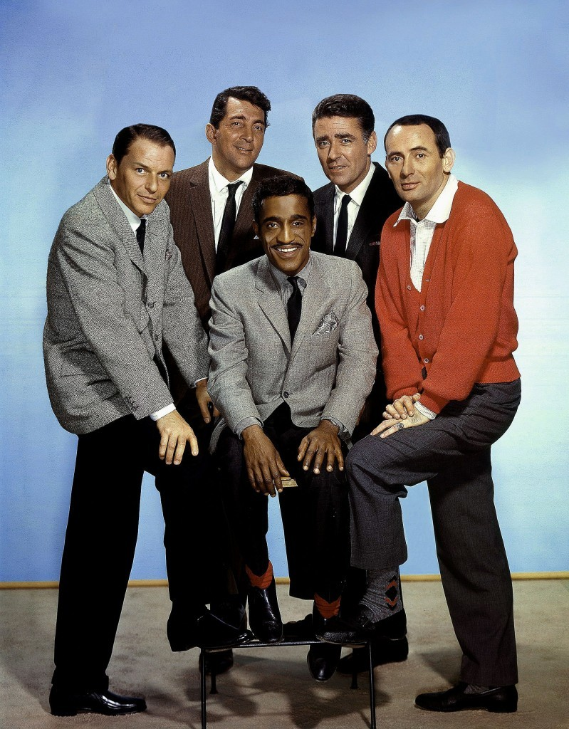 The Rat Pack: Frank Sinatra, Dean Martin, Sammy Davis Jnr., Peter Lawford and Joey Bishop