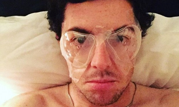 Rory McIlroy had laser eye surgery (Rory McIlroy/Twitter)