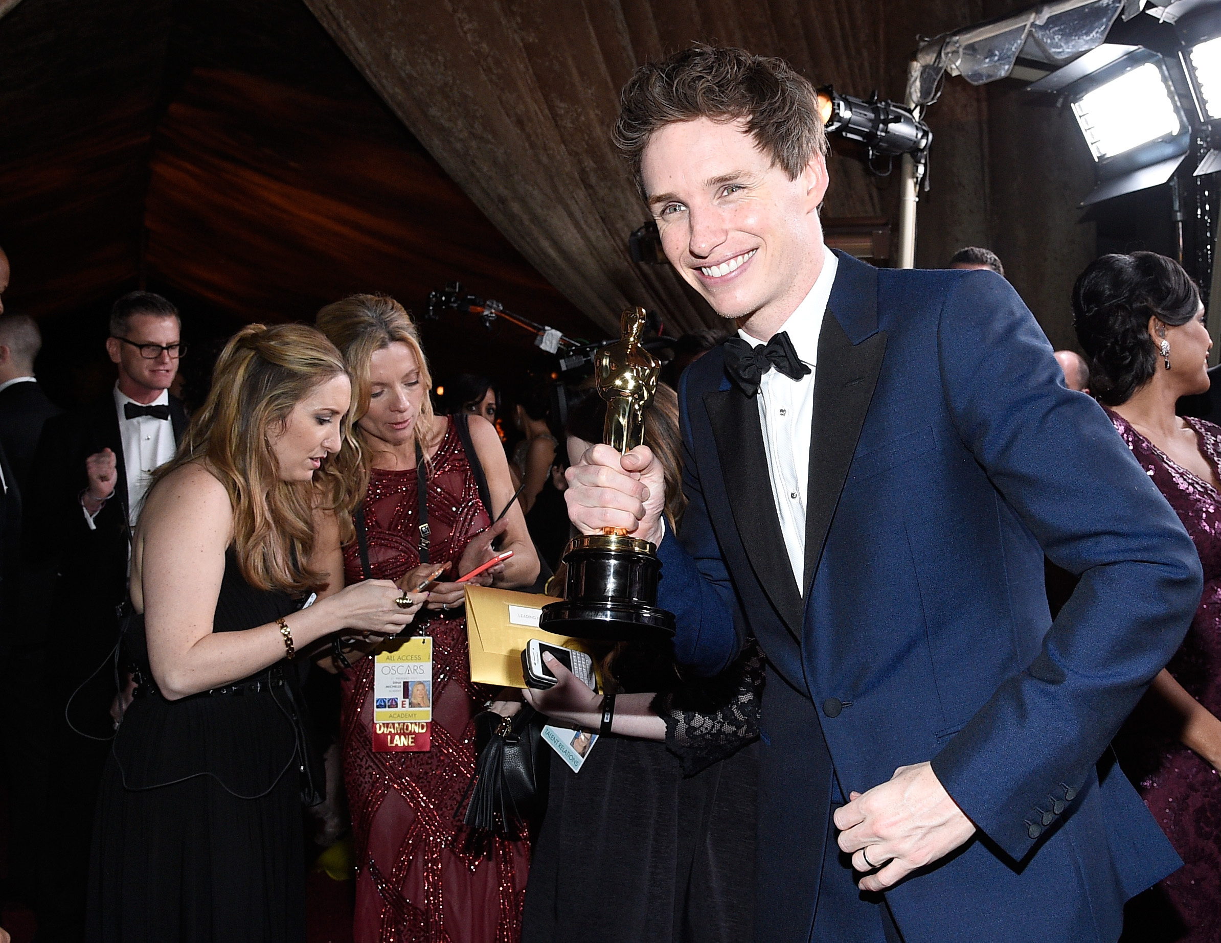 Eddie Redmayne attends the 87th Annual Academy Awards Governors Ball. (Getty Images)