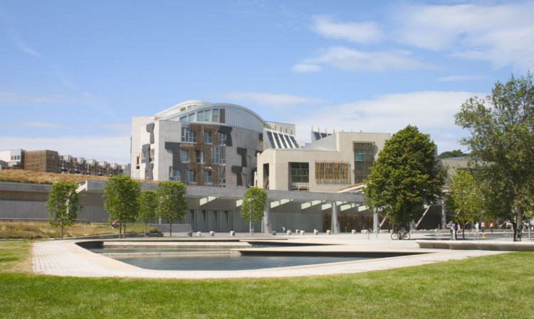 Scottish Parliament at Holyrood.