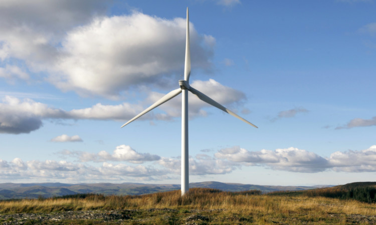 Dalswinton wind farm in Dumfries and Galloway