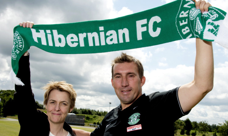 Stubbs was unveiled as Hibs manager in 2014