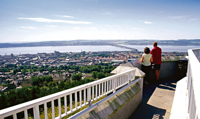 A view from a vantage point on Dundee Law