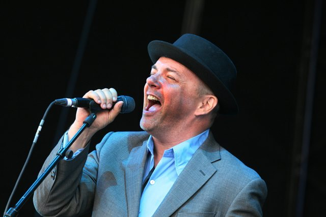 The Rewind Festival, Scone. Pat Kane of Hue and Cry performing