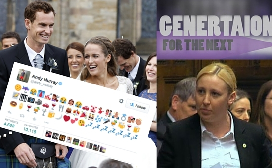social media moments from 2015 - andy murray, mhairi black