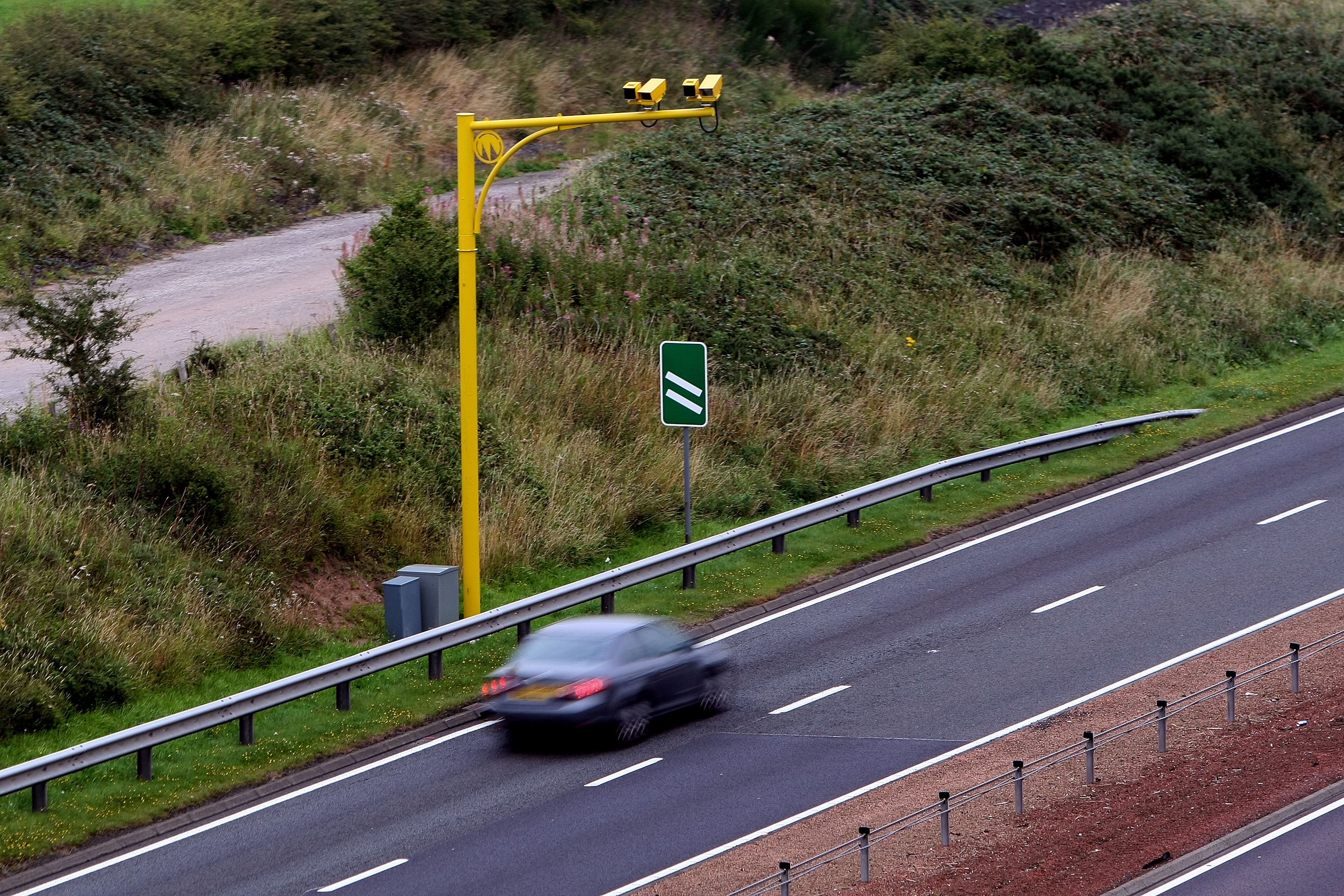 Average speed cameras on the A9 (Kris Miller / DC Thomson)