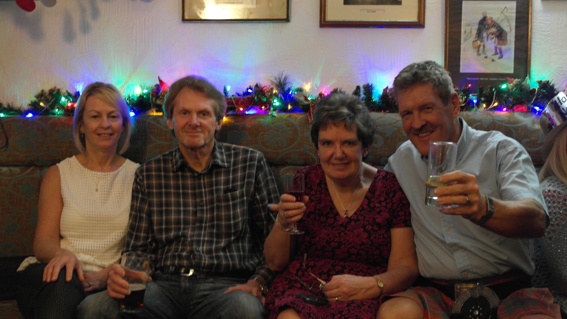 The group celebrate Hogmanay (Chris Austin / DC Thomson)