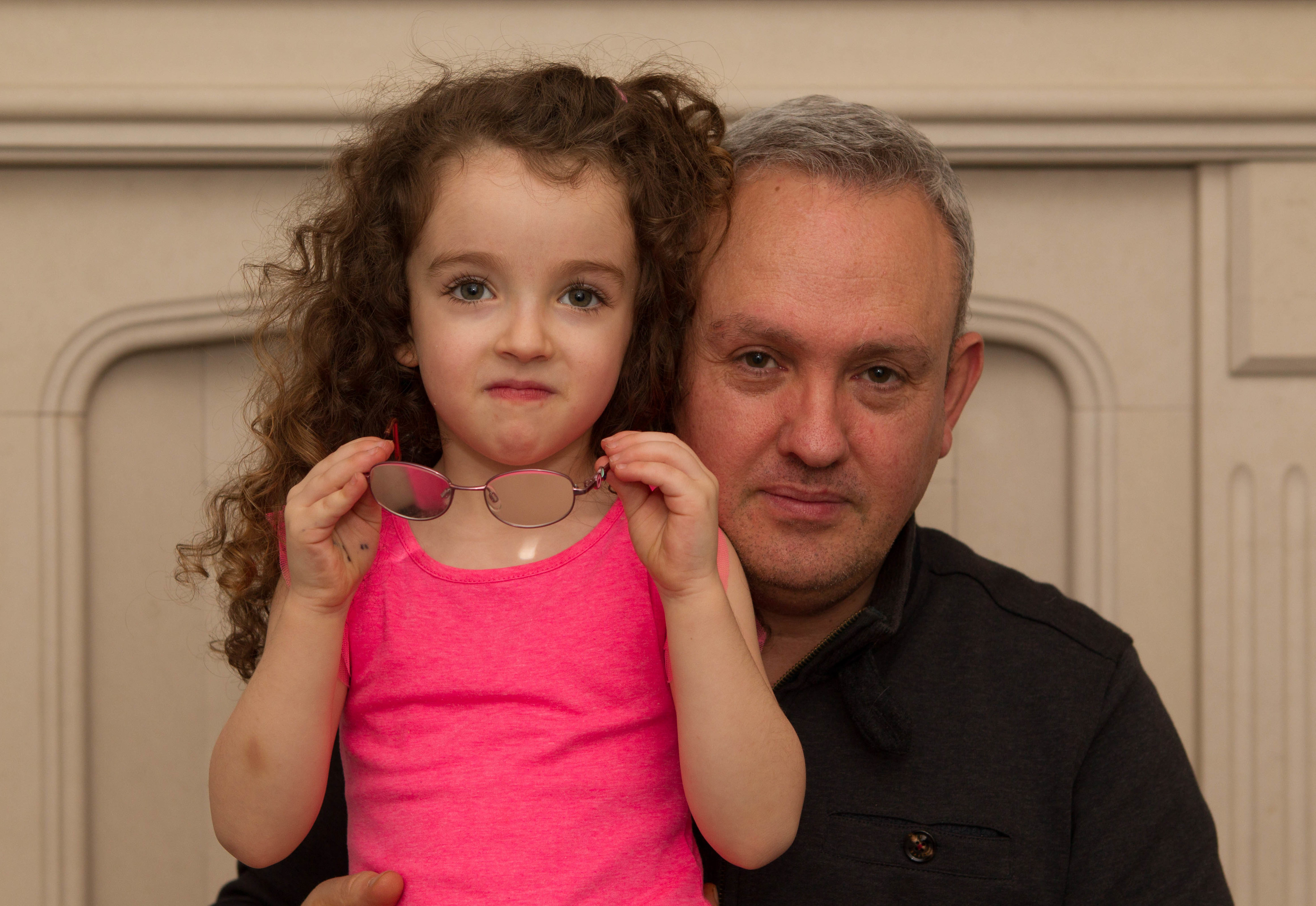 Gracie Rooney with dad Martin (Chris Austin / DC Thomson)