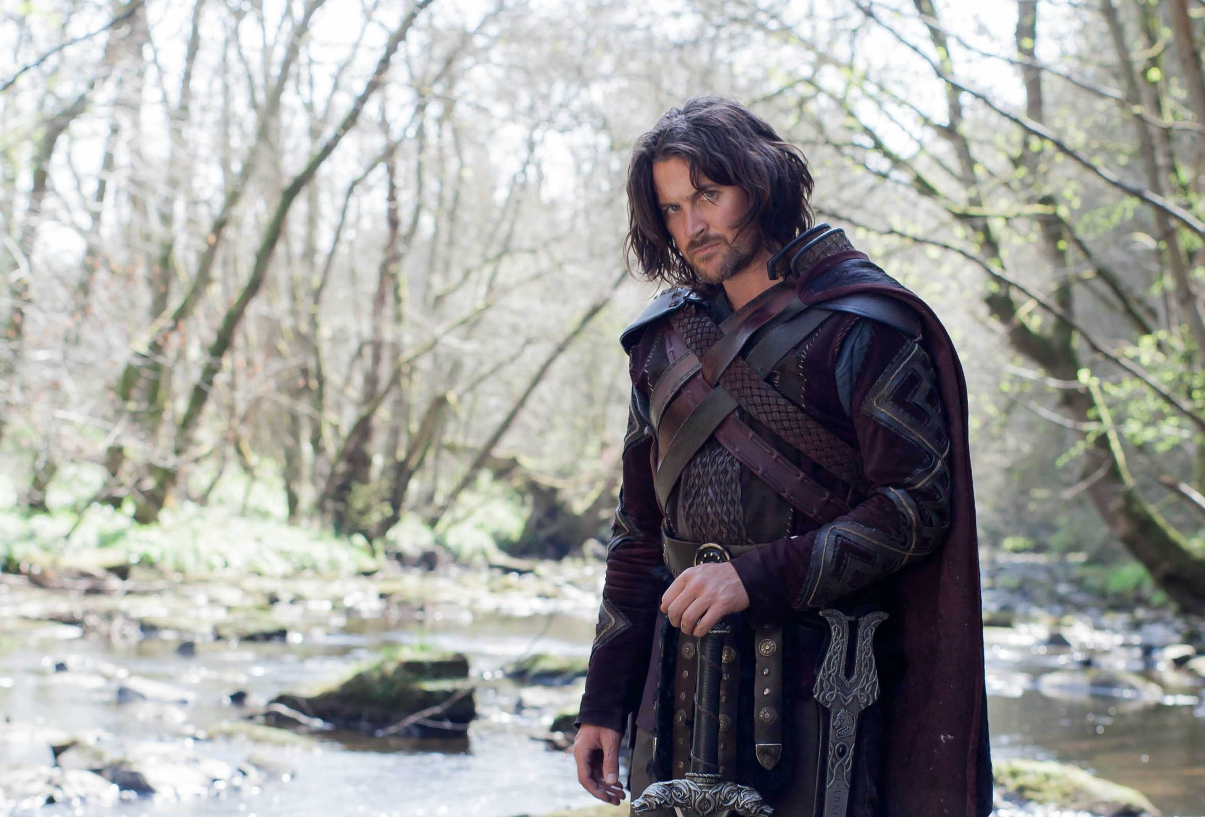 Kieran as Beowulf (Laurence Cendrowicz, Aimee Spinks and Justin Slee / ITV)