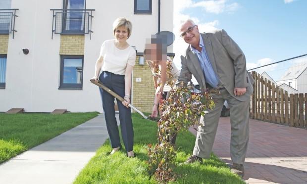 Nicola Sturgeon with Sandy Adam