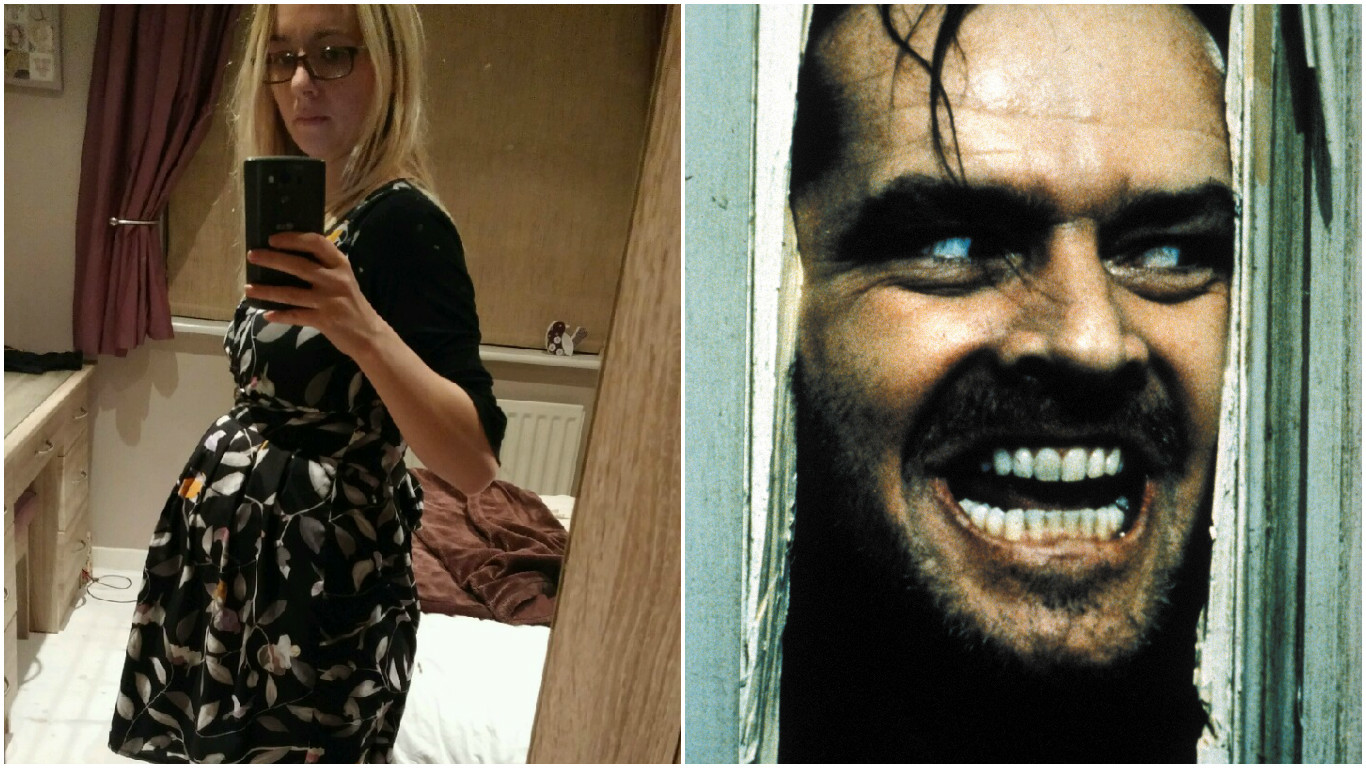 Darryl's wife burst into the kitchen in scenes reminiscent of The Shining!