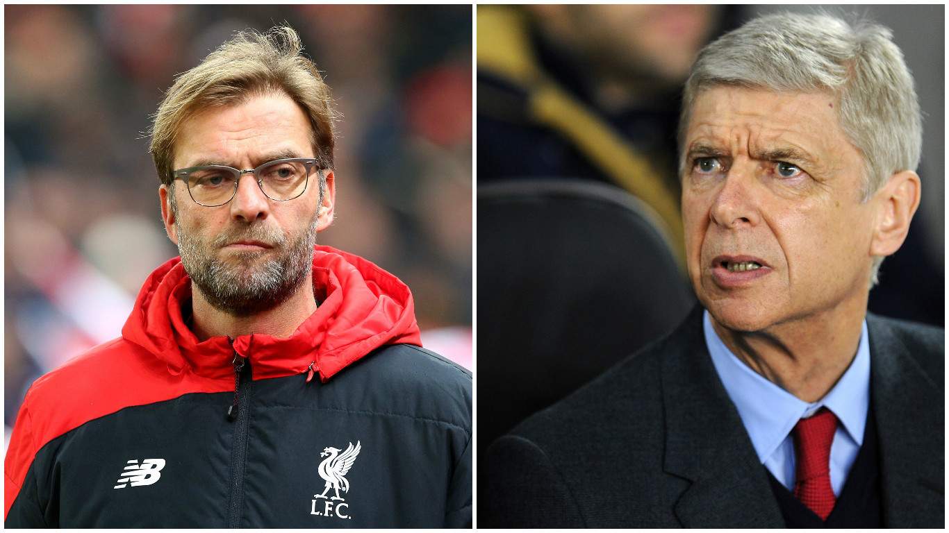 Klopp and Wenger go head to head tonight (PA)