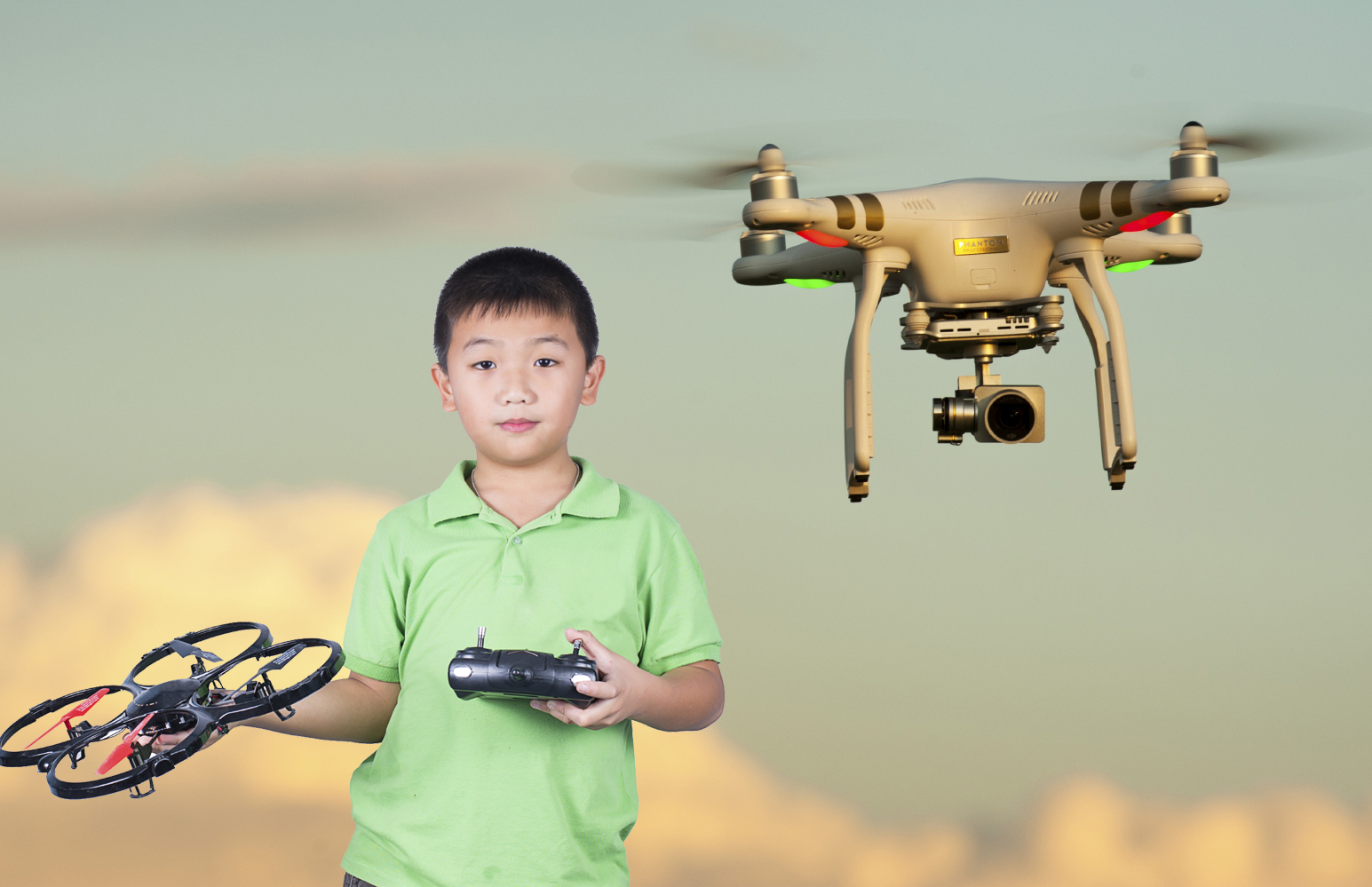 Experts are warning parents against letting children use drones like these (PA)