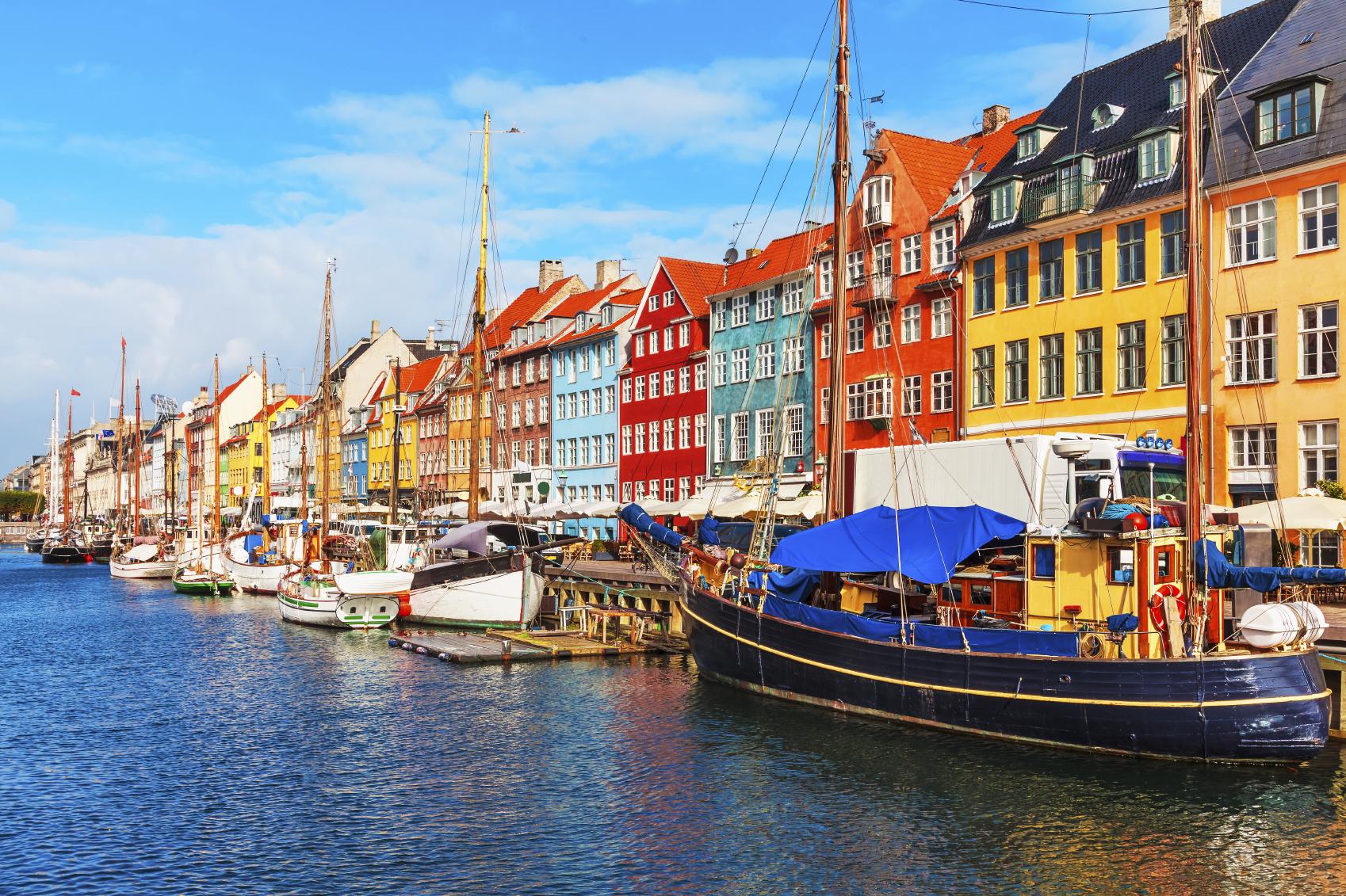 Nyhavn pier in the Old Town of Copenhagen