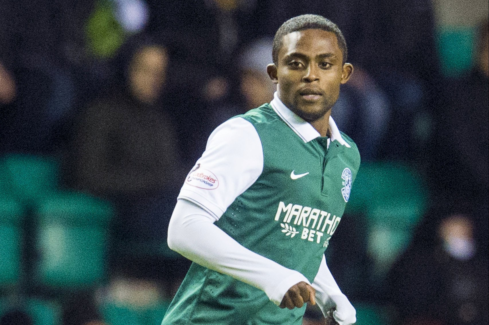 Islam Feruz in action for Hibs (SNS Group)