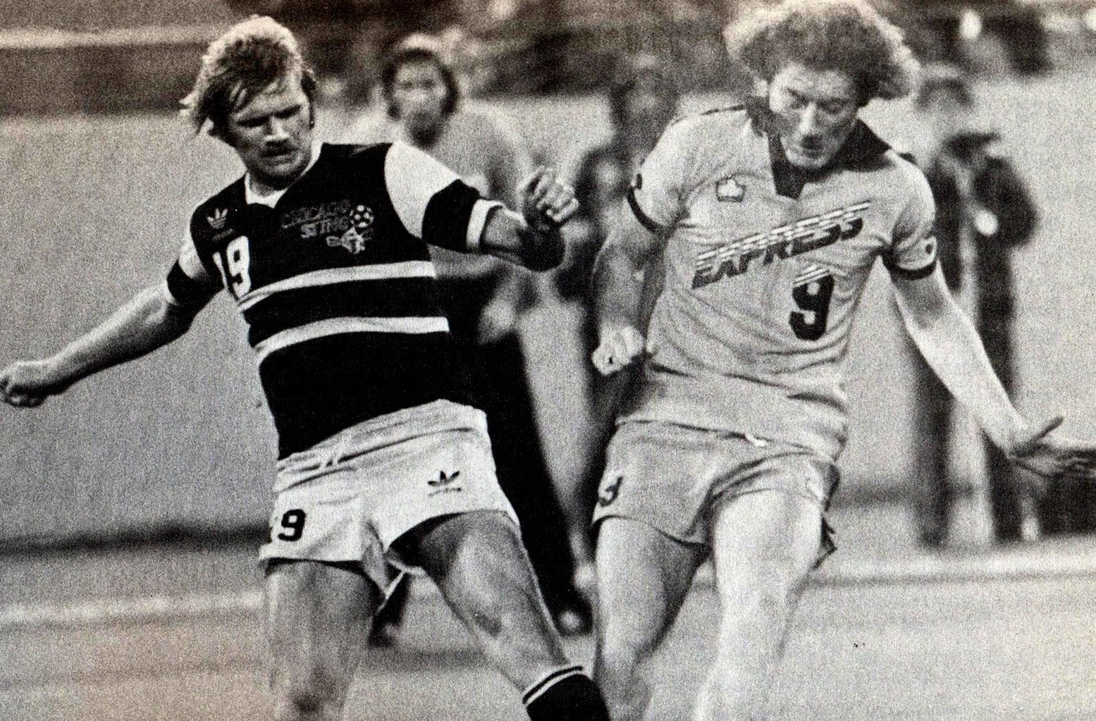 A young Alan Brazil in action for Detroit Express on the plastic in the late 1970s.