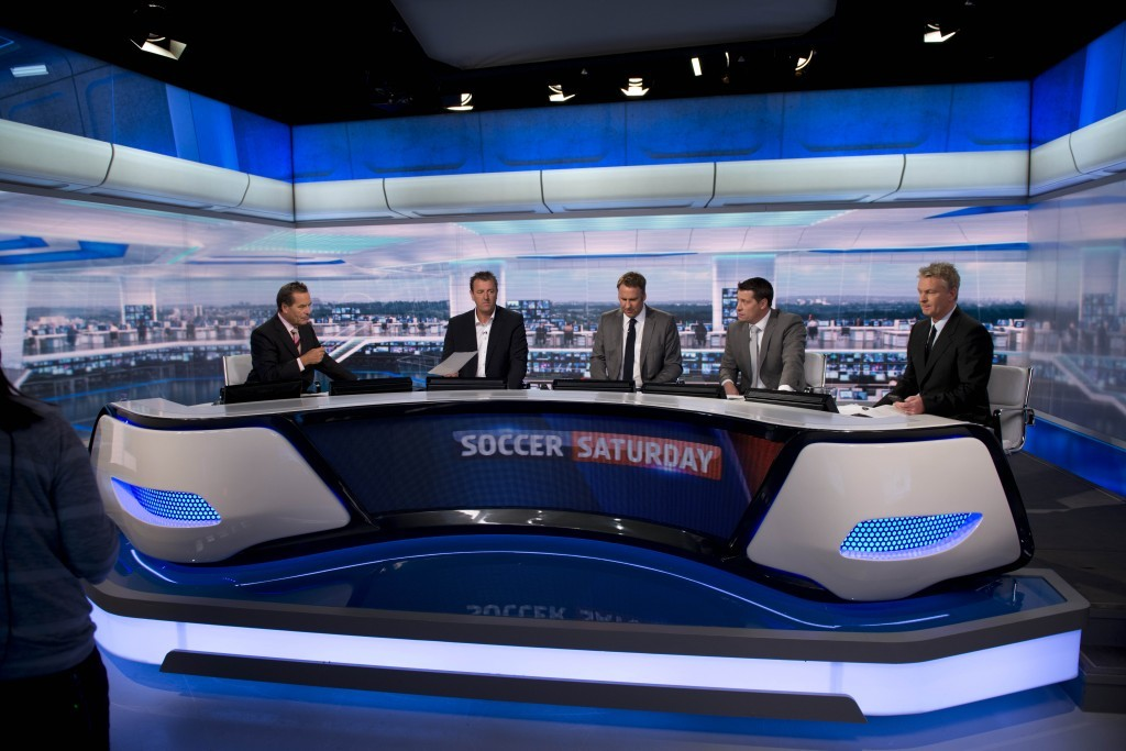 Jeff and the Soccer Saturday team (Justin Downing/Bskyb)