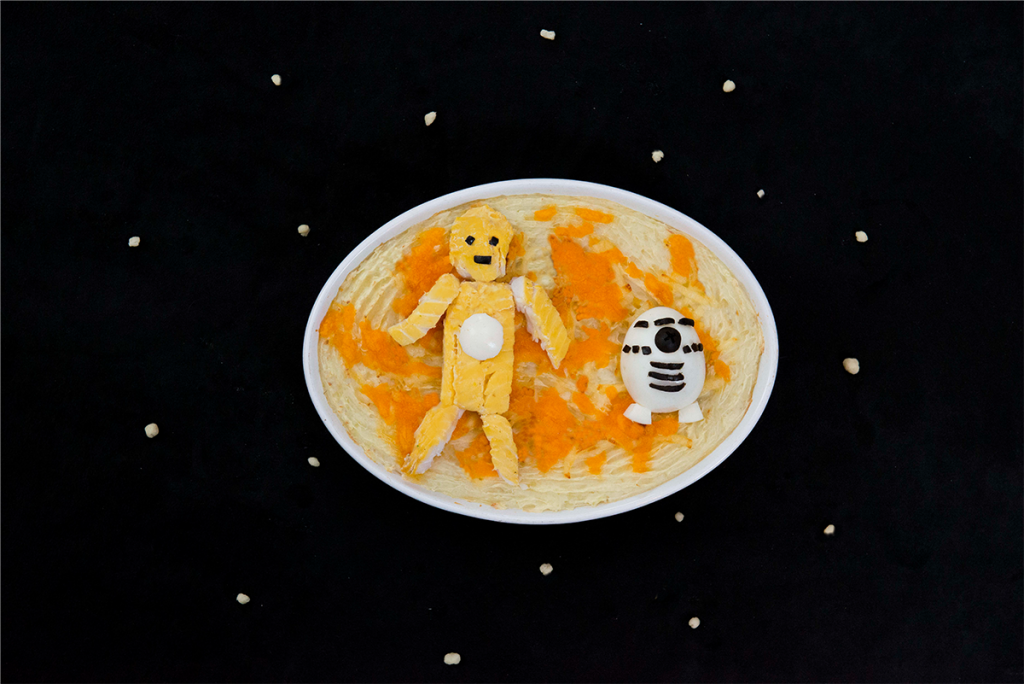 C3PO and R2D2 fish pie