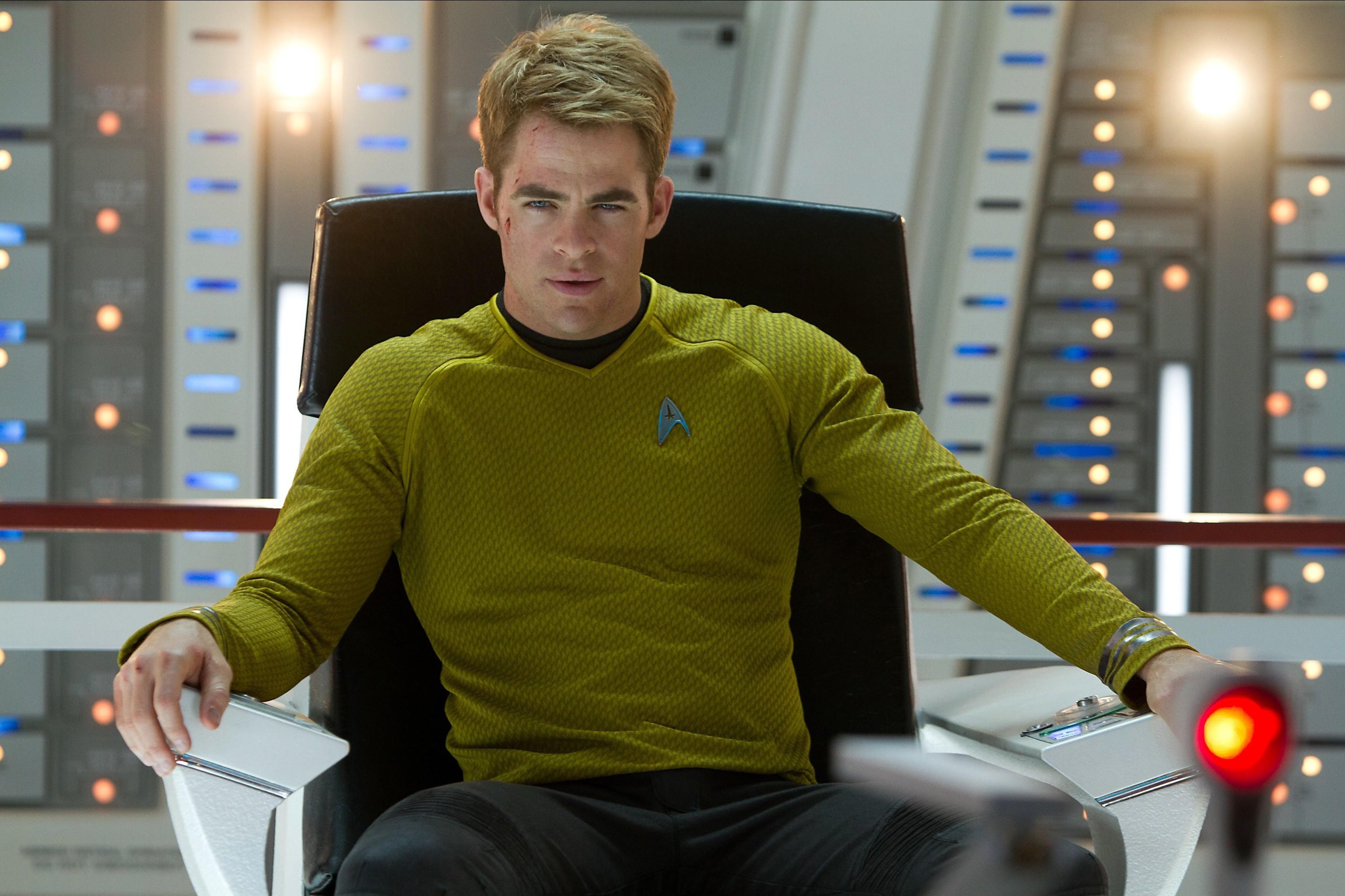 Chris Pine stars in the new Star Trek films as James T Kirk (Allstar/ Paramount Pictures/ Zade Rosenthal)