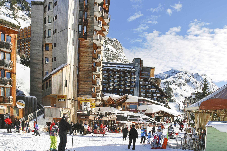 Les Portes du Soleil is a major ski area in the Alps