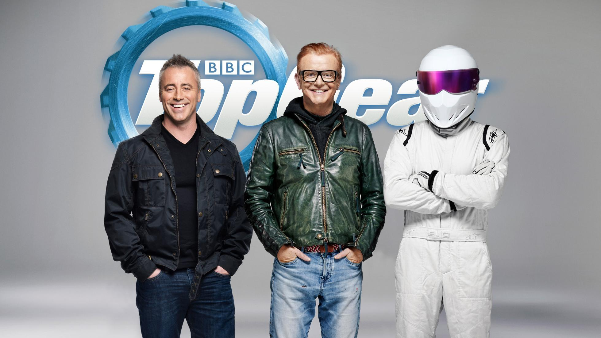 Matt LeBlanc joins Chris Evans and The Stig on Top Gear (BBC)