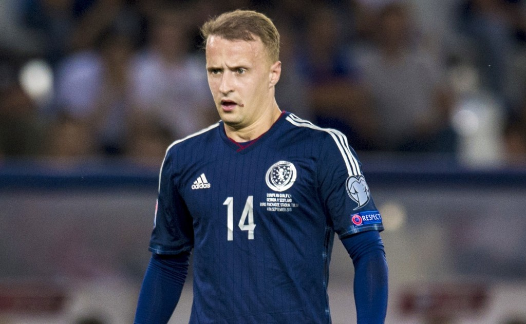 Leigh Griffiths in action for Scotland against Georgia (SNS Group)