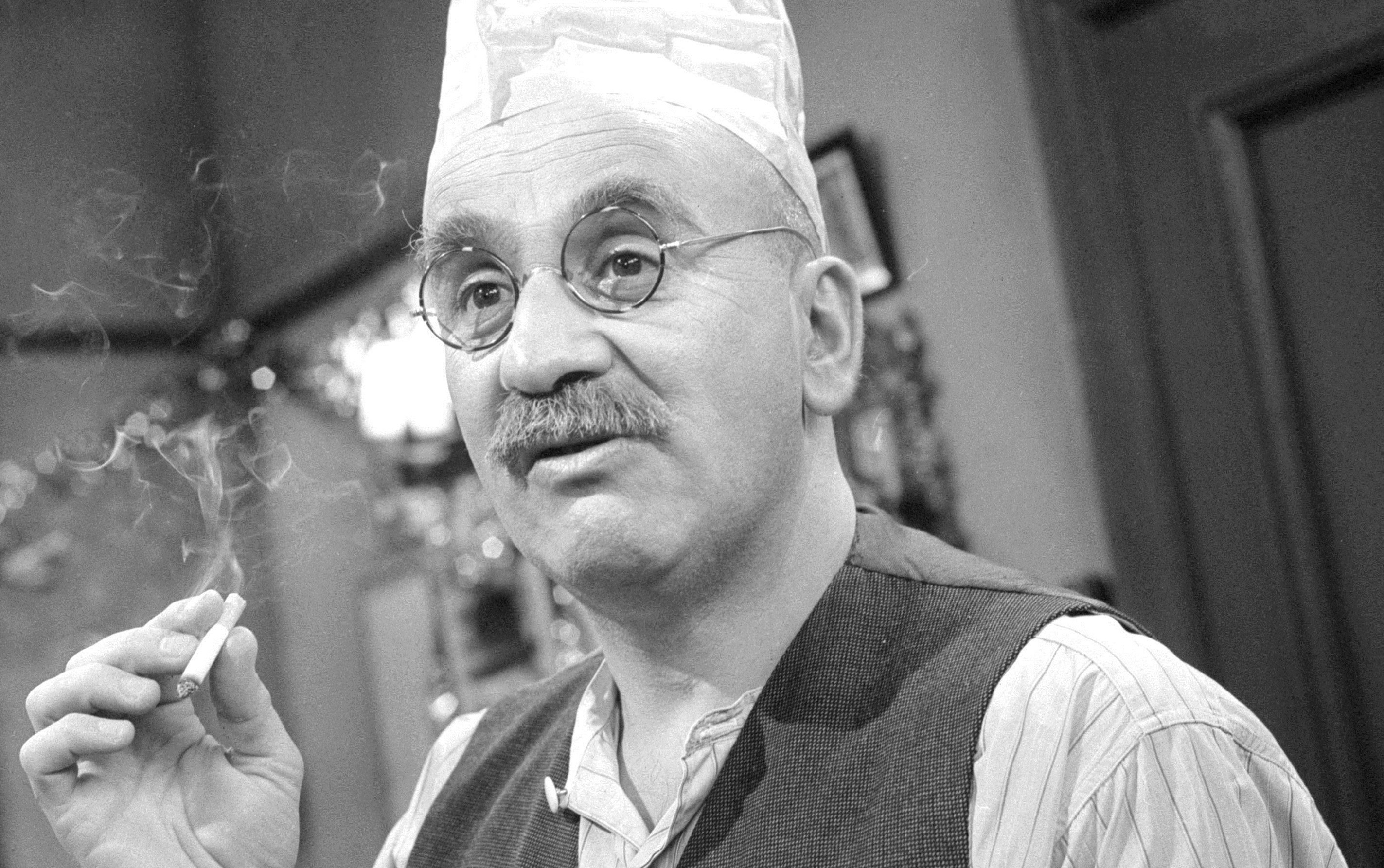 Warren Mitchell as Alf Garnett (PA/PA Wire)