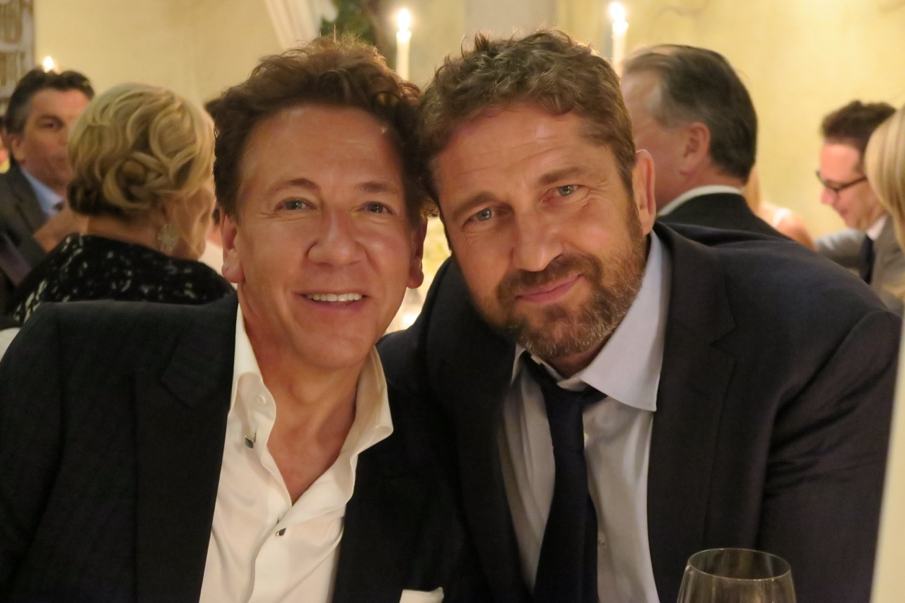 Ross King with his pal Gerard Butler