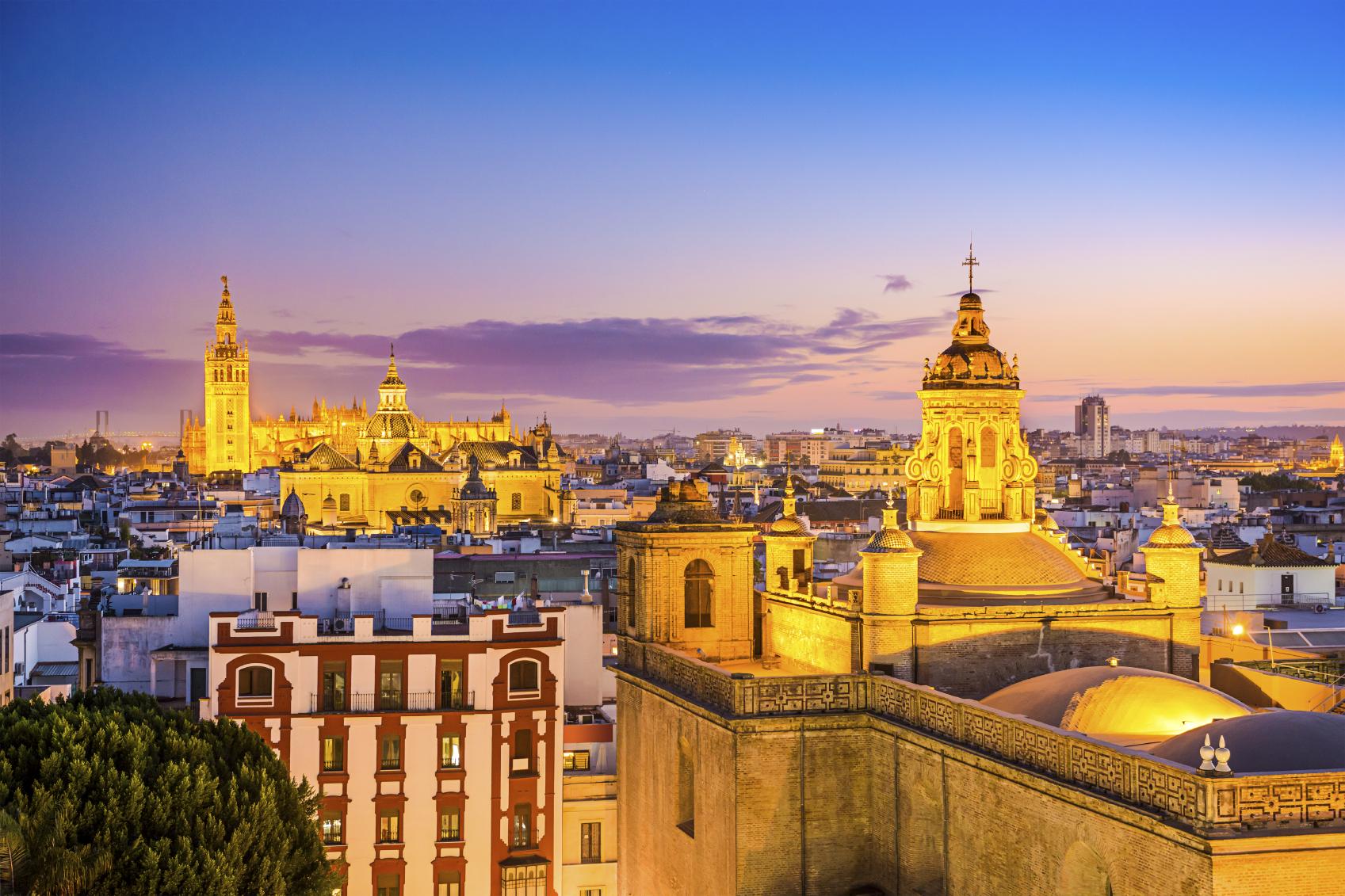 Seville at dusk (Getty Images)