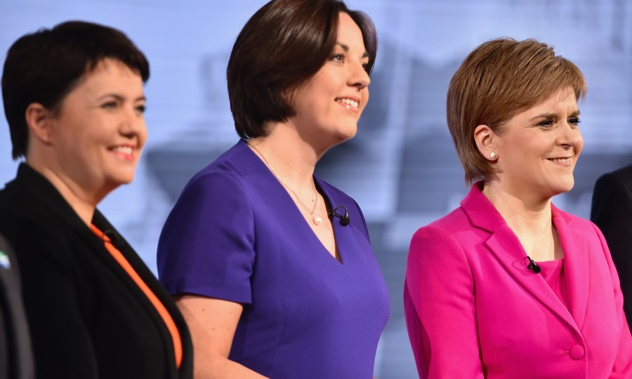 (L-R) Ruth Davidson of the Scottish Conservatives, Scottish Labour's Kezia Dugdale and SNP leader Nicola Sturgeon (Jeff J Mitchell/Getty Images)