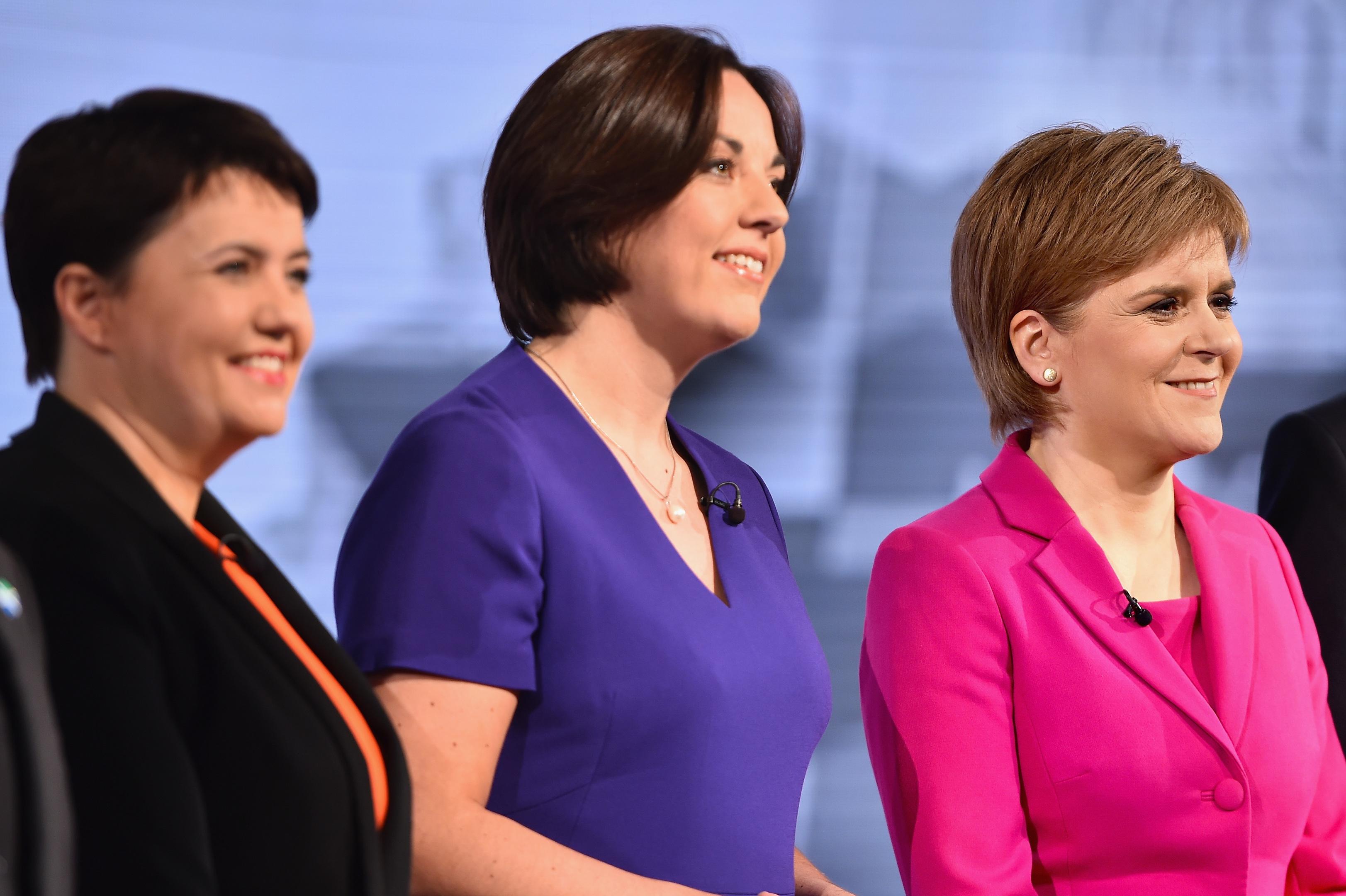 (L-R) Ruth Davidson of the Scottish Conservatives, Scottish Labour's Kezia Dugdale and SNP leader Nicola Sturgeon (Jeff J Mitchell/Getty Images)