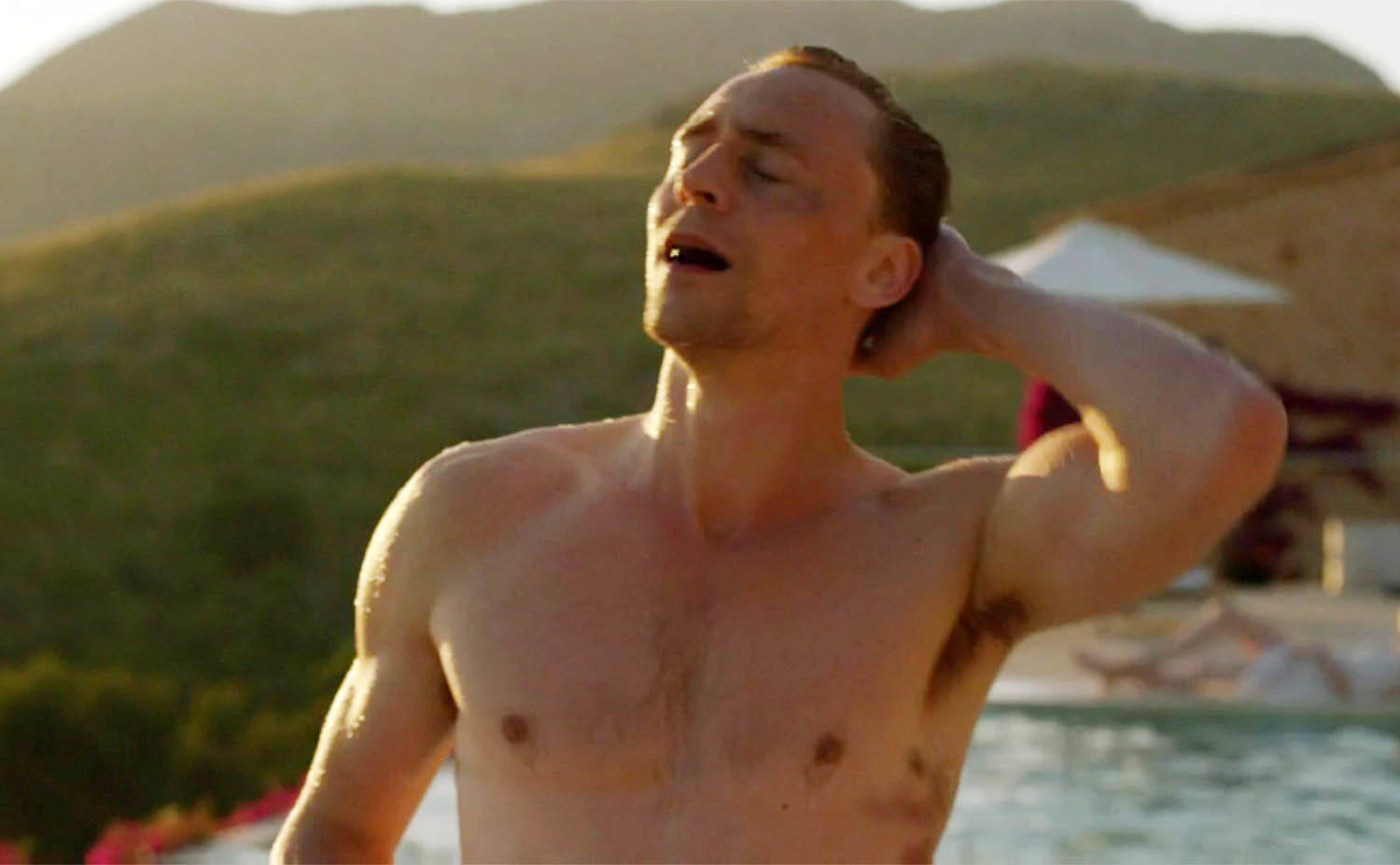 Tom Hiddleston appeared shirtless in The Night Manager