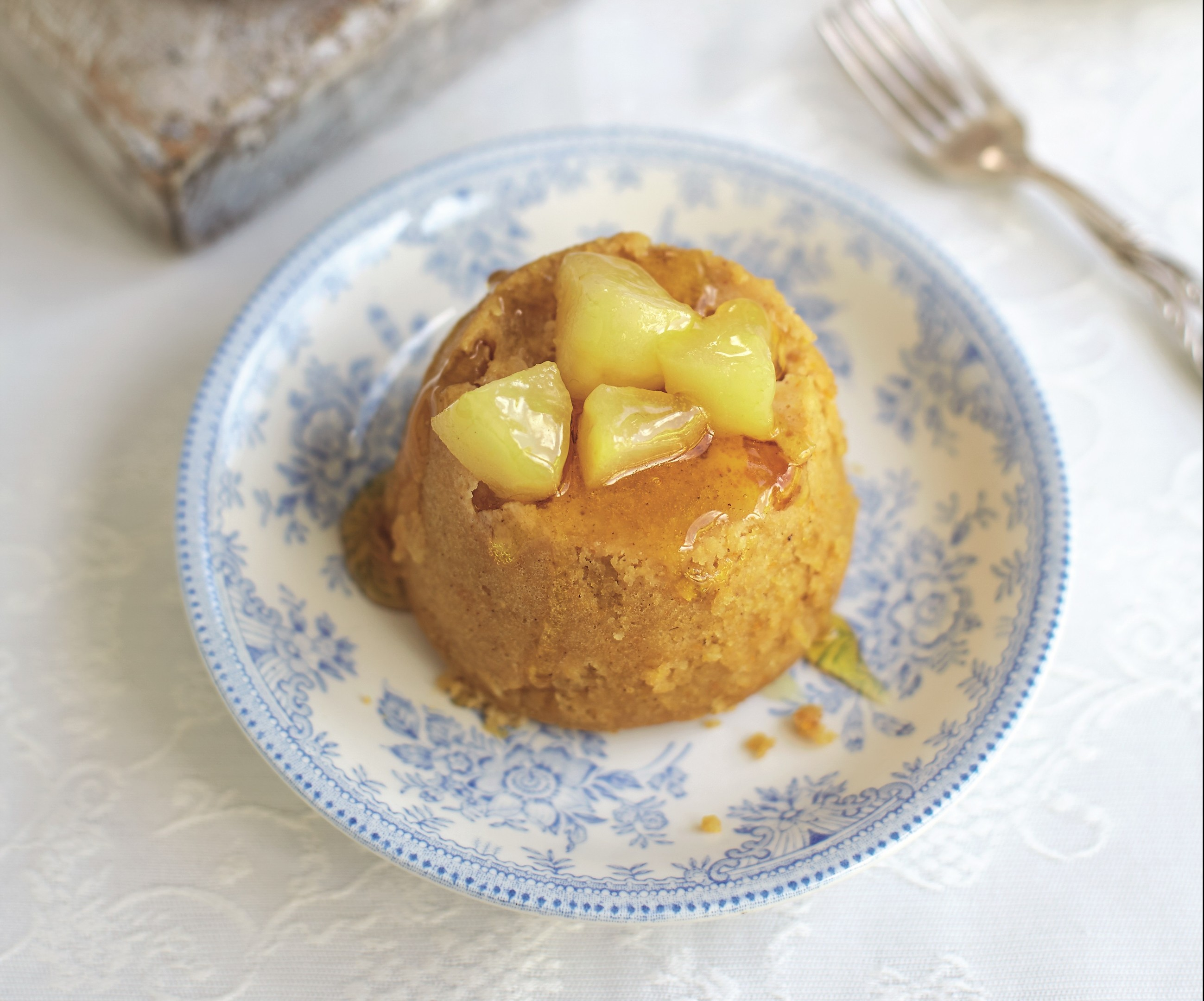 Upside-down pudding from the recipe book Puddings, by Johnny Shepherd