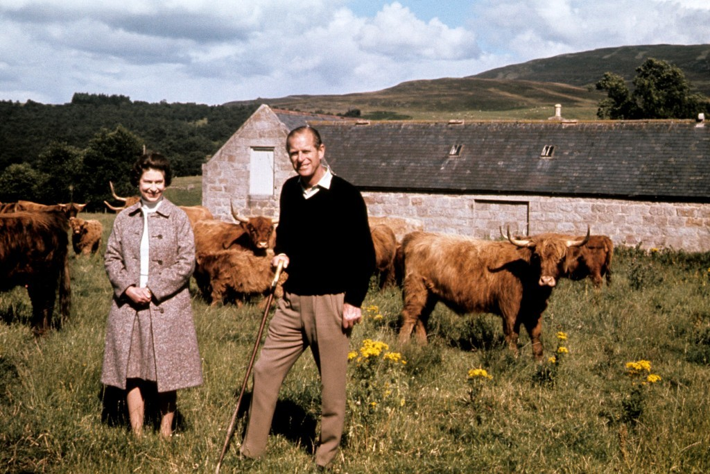 Queen Elizabeth II and the Duke of Edinburgh during a visit to a farm on their Balmoral estate, to celebrate their Silver Wedding anniversary (PA Archive)