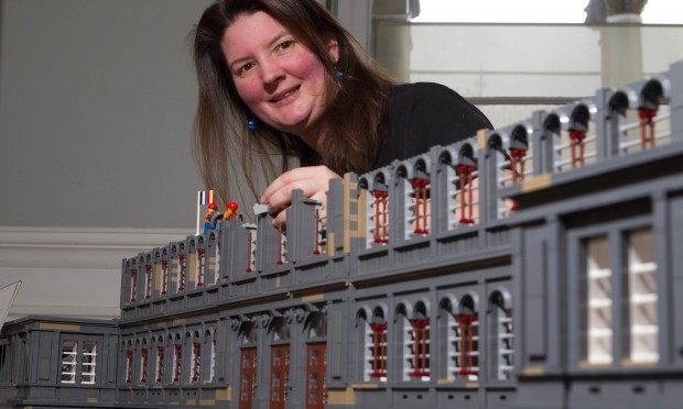 Kitty with the outside of the museum model (Chris Austin / DC Thomson)