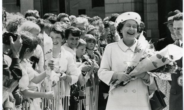 The Queen during her walk about in City Square, Dundee, 1987 (DC Thomson)