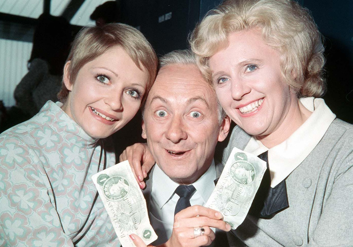 Monica Rose, Hughie Green and Audrey Graham (Left-to-right) presented Double Your Money (Photoshot/Getty Images)