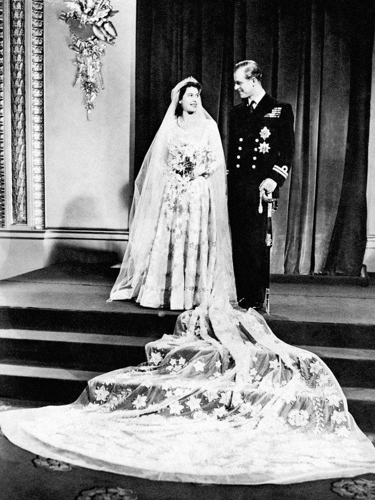 Princess Elizabeth's stunning wedding dress was made from satin produced in Dunfermline (PA)