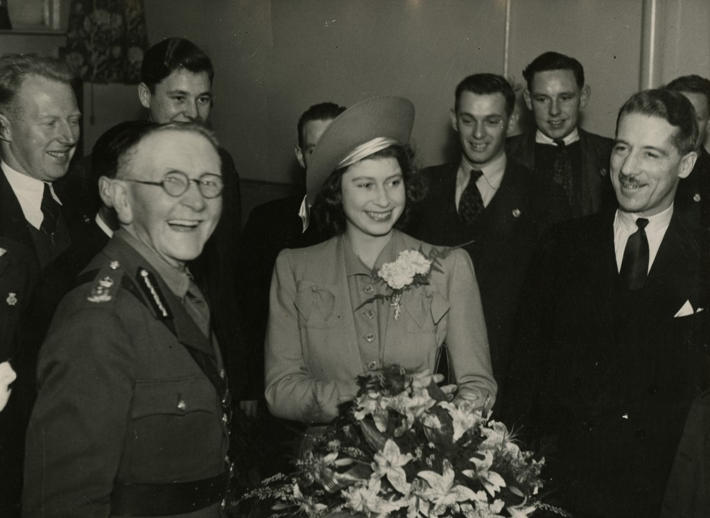 Elizabeth's first public engagement on her own, at Aberdeen Sailors' Home where she met with some young sailors (AJL)