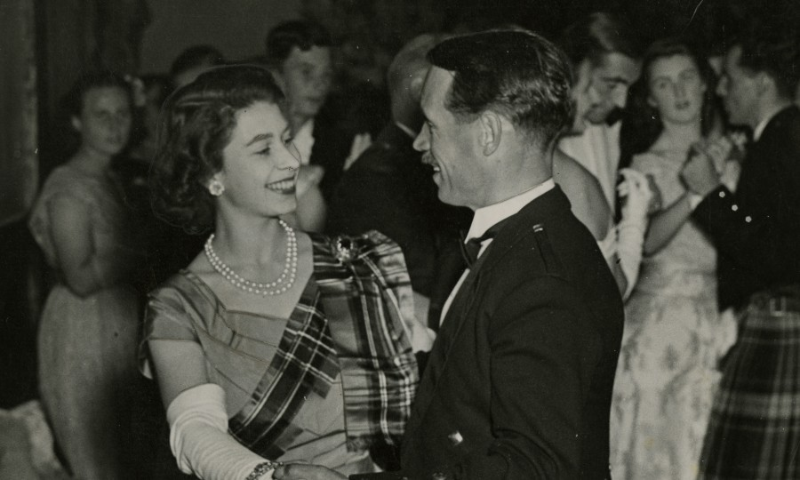 Just like any young woman of her time the Princess enjoyed hitting the dancefloor. Here she is dancing with a Mr David Bogle at the 1949 Aboyne Ball (AJL)