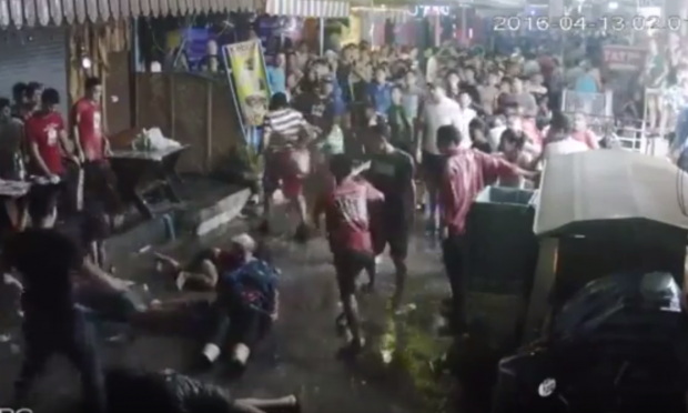 CCTV footage leaked online shows the horrific attack