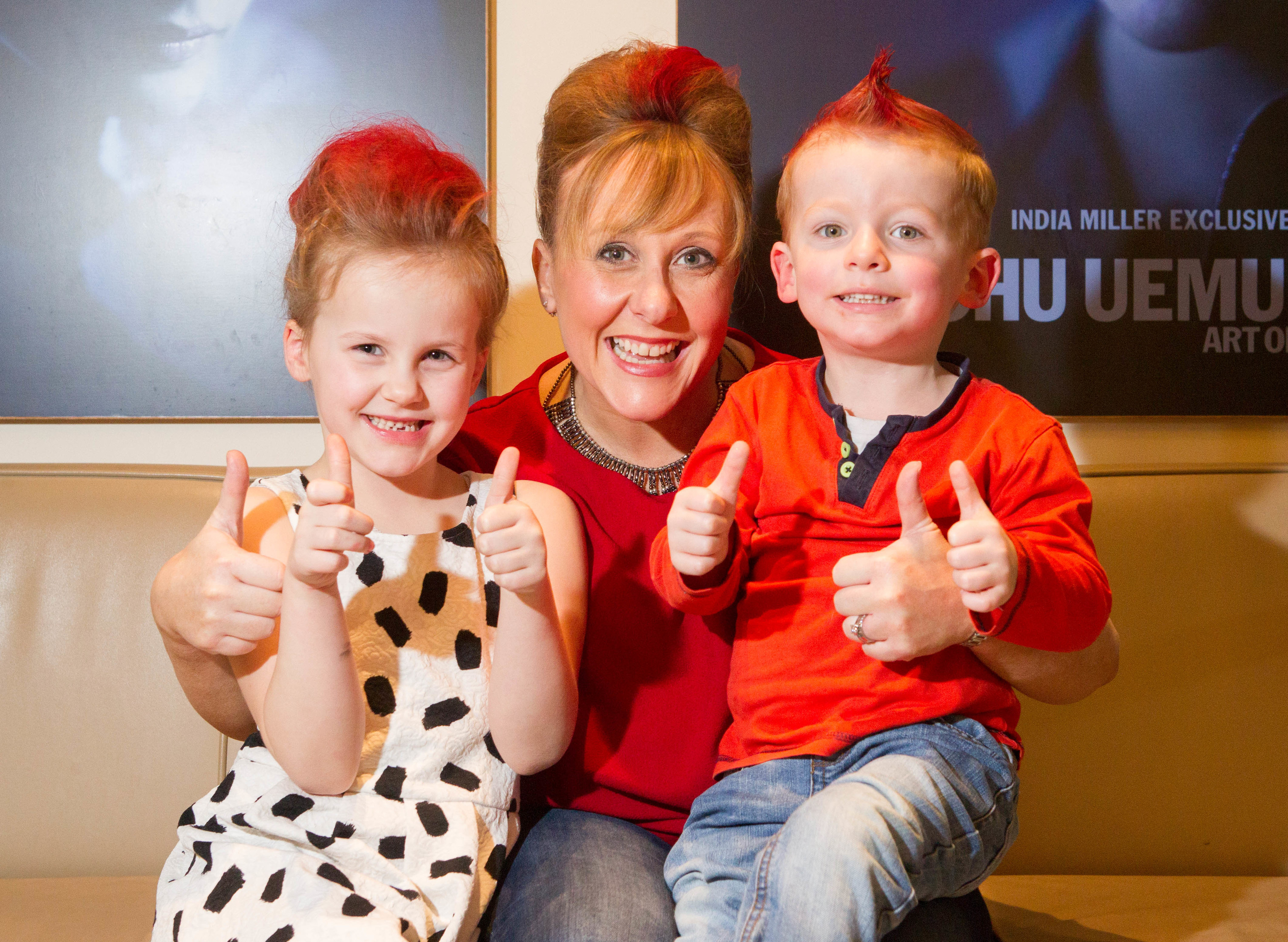 CHAS mad hair day with Jessica, Diane and Ben (C Austin/ DcThomson)