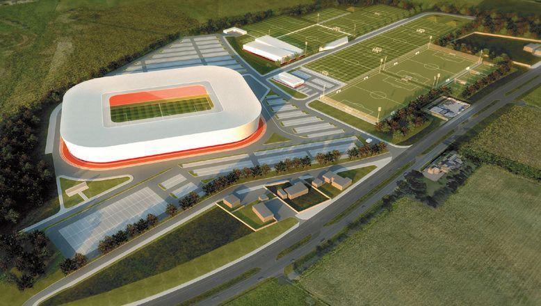 Artist's impression of the new stadium (Aberdeen FC)