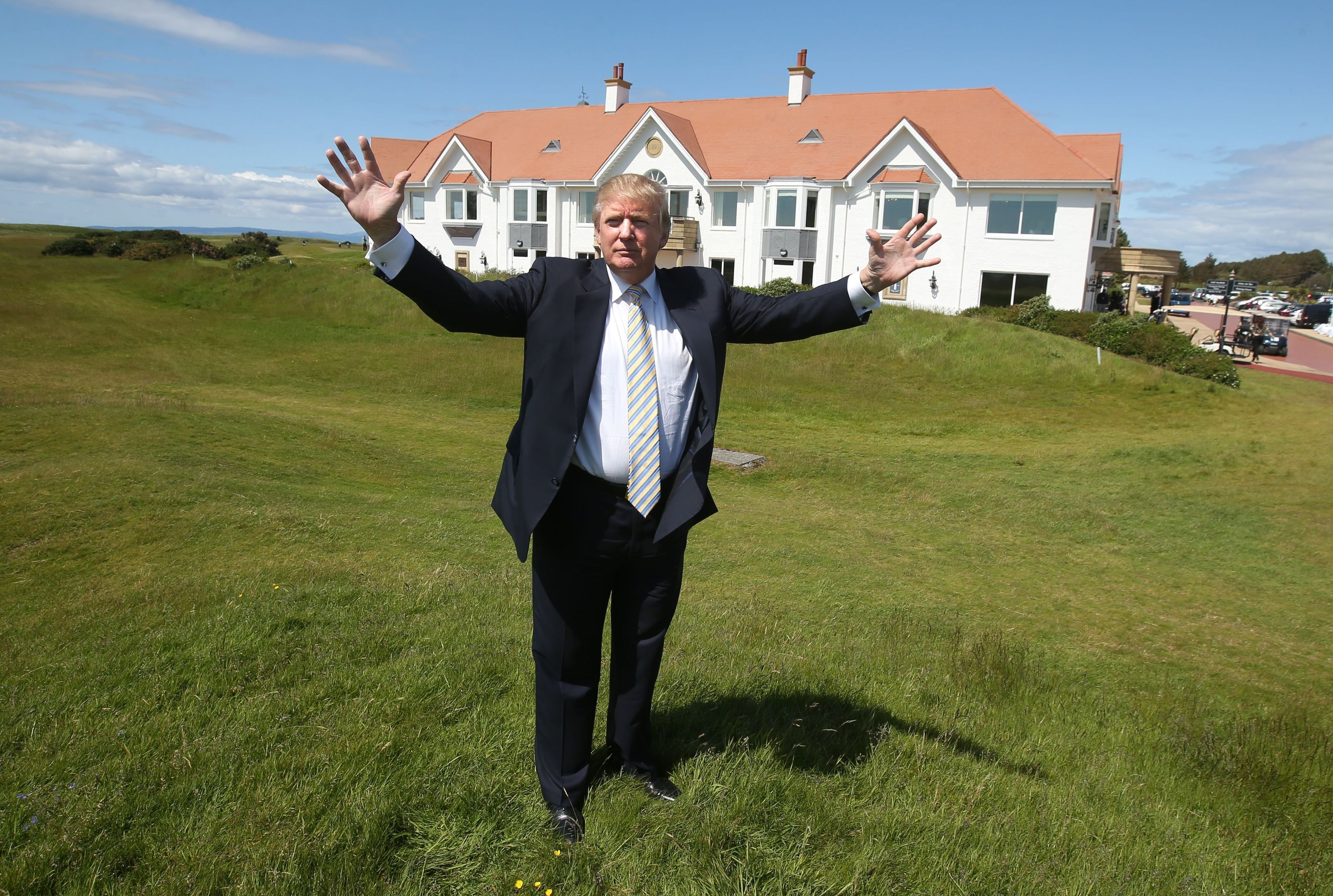 Donald Trump at Turnberry (Andrew Milligan / PA Wire)