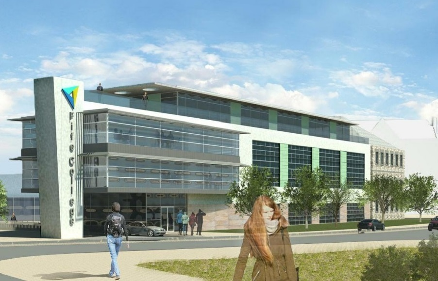 Artist's impression of the new Fife College campus