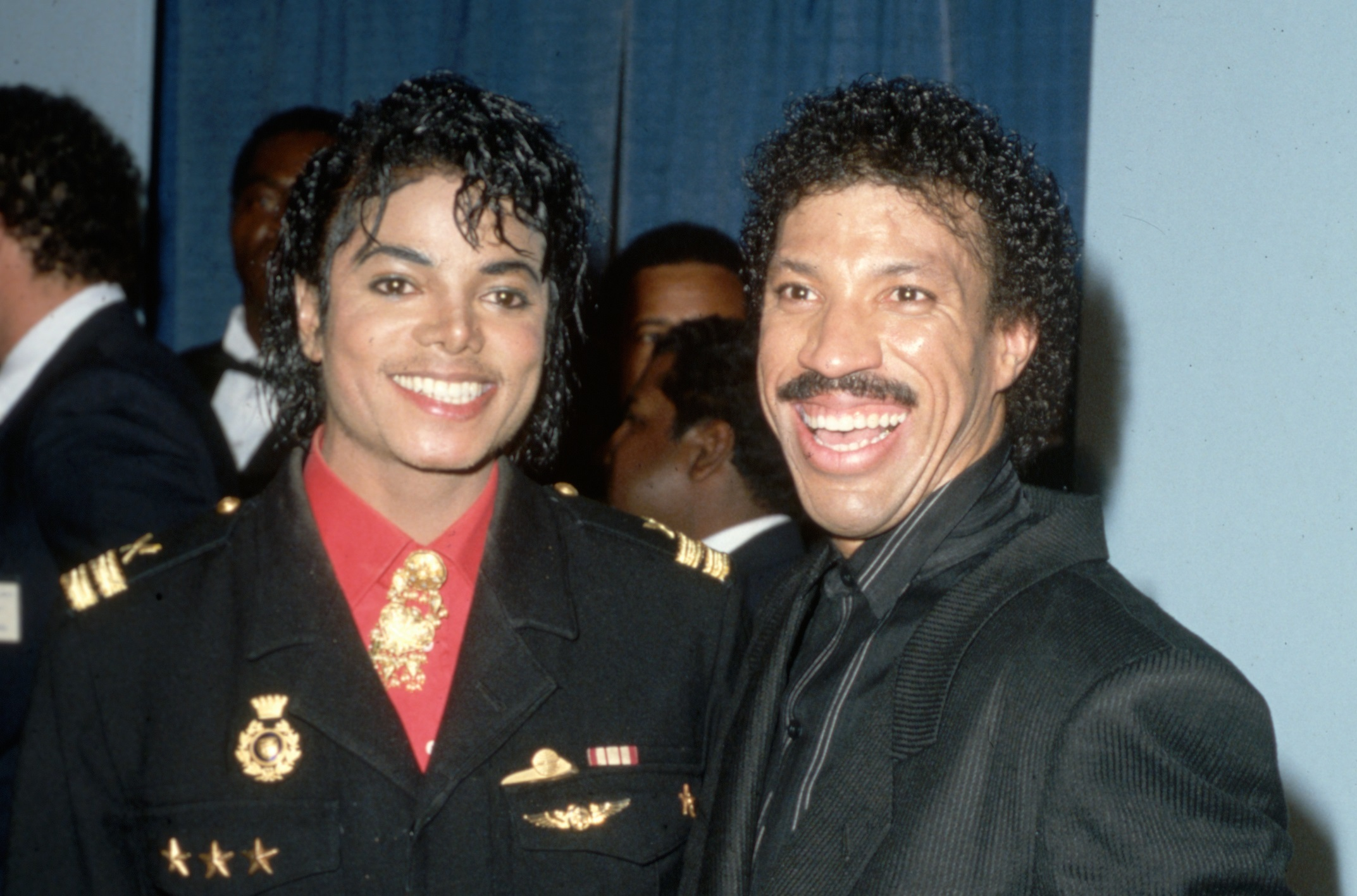 Michael Jackson with Lionel Richie (Lynn Goldsmith/Corbis/VCG via Getty Images)