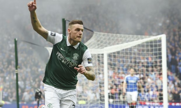 Anthony Stokes celebrates the opener (SNS Group)